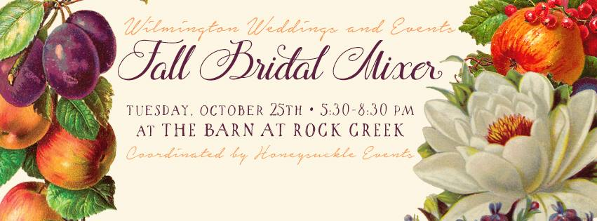 Fall Bridal Mixer October 25, 2016  5:30-8:30 p.m.