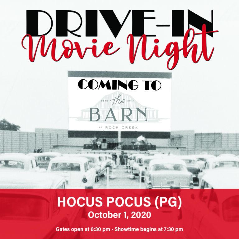 Photo drive in movie night