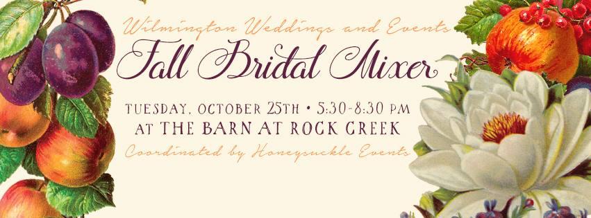 Fall Bridal Mixer October 25, 2016  5:30-8:30 p.m.